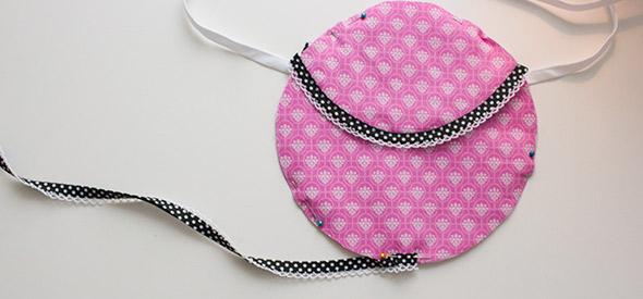 Schrägband an Unterkante anlegen