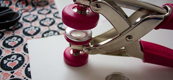 Buttonrohling auflegen