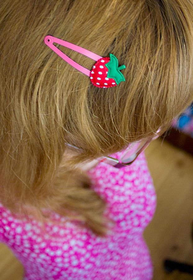 Haarclips Erdbeere
