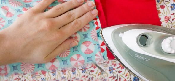 Nahtzugabe auseinanderbügeln