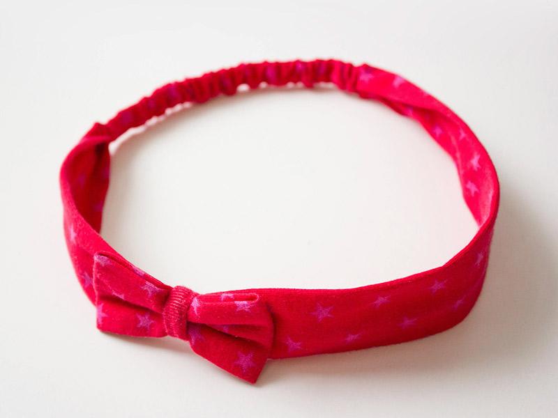 Neue Nähanleitung: Haarband mit Schleife in 5 Größen (Baby bis Erwachsene)