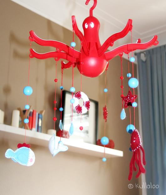 kullaloo Mobile aus IKEA Wäschespinne