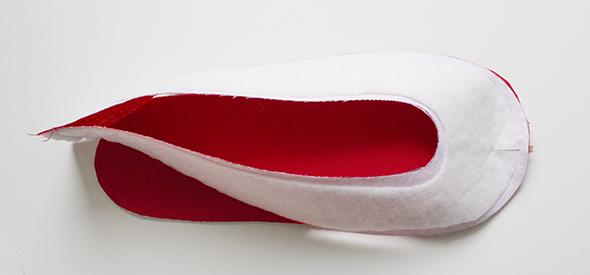 Sohle RaR an Schuh legen