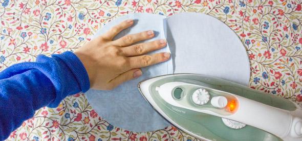 Seitentasche bügeln