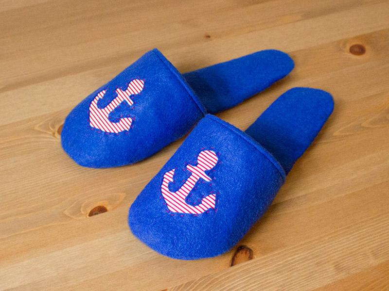 "Kalte Füße adé! Mein neues Schnittmuster ist da: Pantoffeln ""Frieda"""