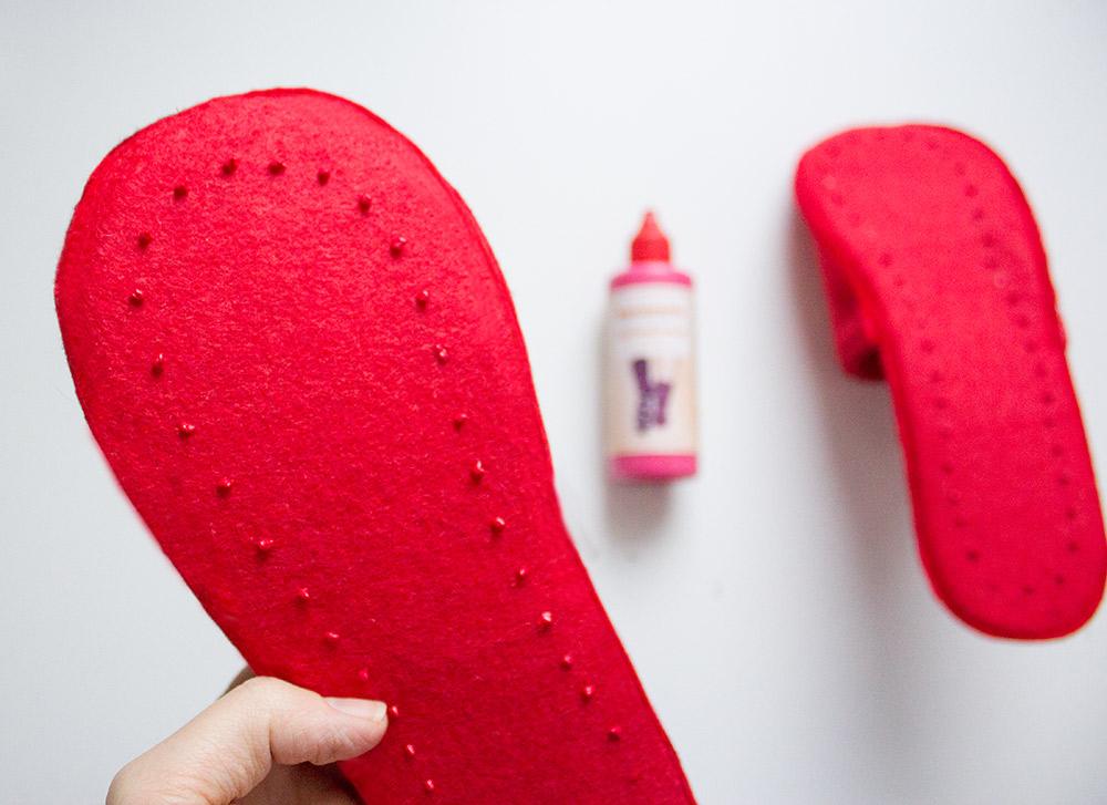 Schuhe mit Sockenstop rutschfest machen