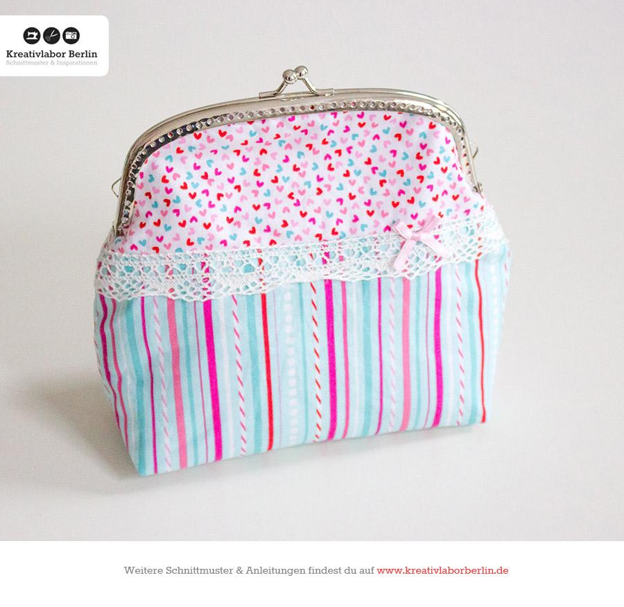 kostenloses schnittmuster clipb rse handtasche mit taschenb gel. Black Bedroom Furniture Sets. Home Design Ideas