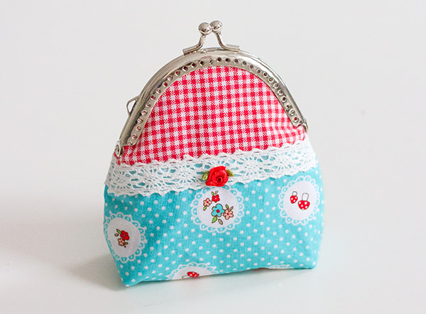 Süße Clipbörsen: Ein Portemonnaie mit Taschenbügel selbst nähen ...