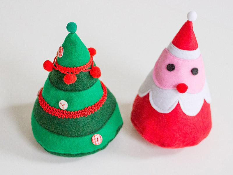 Kostenlose Nähanleitung: Weihnachtsbaum & Weihnachtsmann aus Filz ...