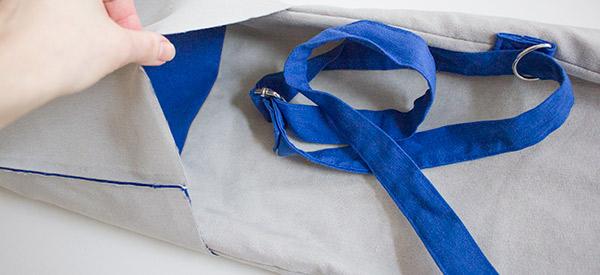 Außentasche in Innentasche stecken