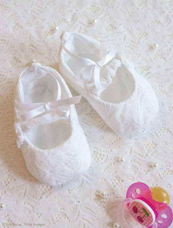 Babyschuhe nähen: Ballerinas