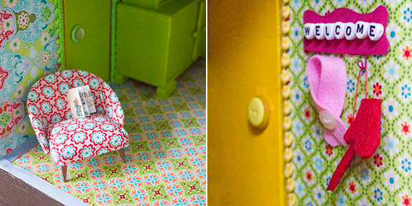 ... eines Puppenhauses: 3. M?bel lackieren und Puppenhaus einrichten