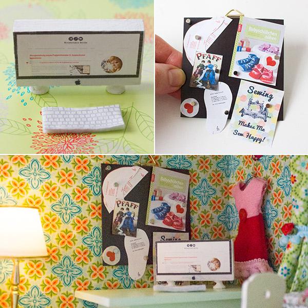 Magnetwand und iMac fürs Puppenhaus