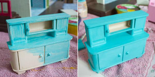 Neugestaltung eines Puppenhauses: 3. Möbel lackieren und ...