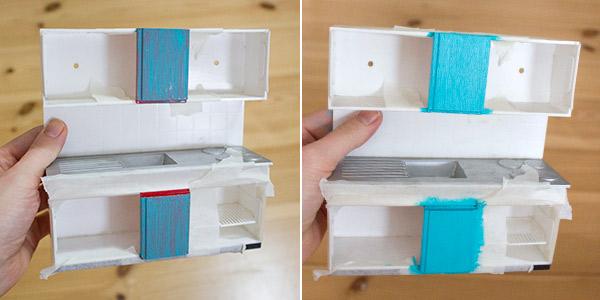 neugestaltung eines puppenhauses 3 m bel lackieren und puppenhaus einrichten kreativlabor berlin. Black Bedroom Furniture Sets. Home Design Ideas