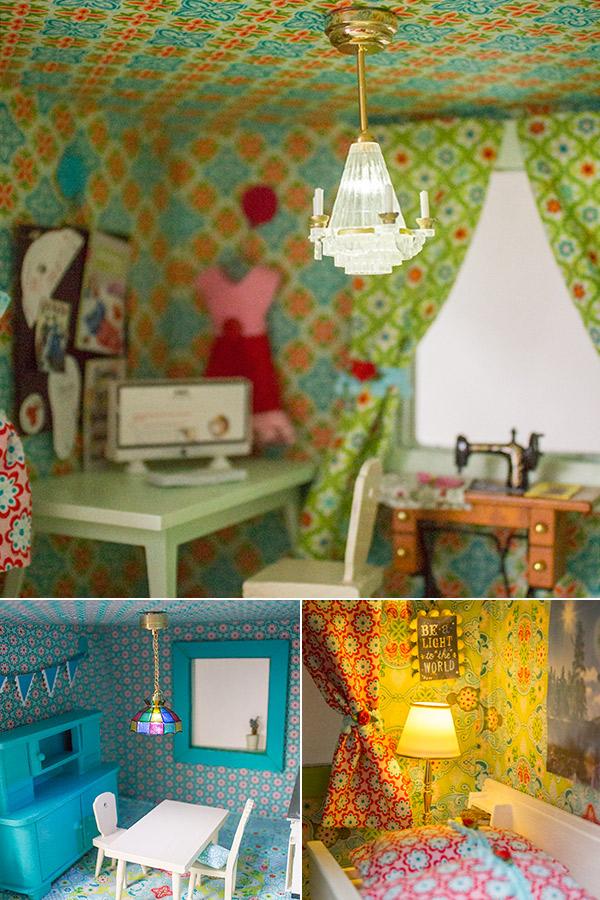 Neugestaltung eines Puppenhauses: 5. Dekoration · Bilder, Lampen, Bücher & Co. | Kreativlabor Berlin