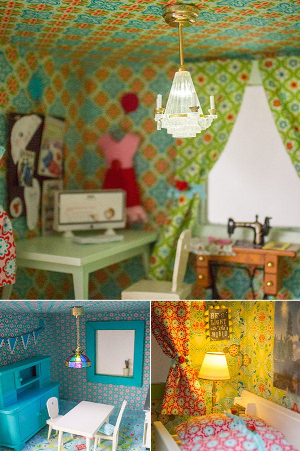 Lampen in Puppenhaus