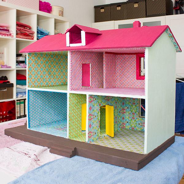 Neugestaltung Eines Puppenhauses 2 Innenräume Tapezieren