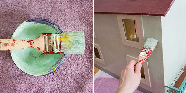 Puppenhaus restaurieren
