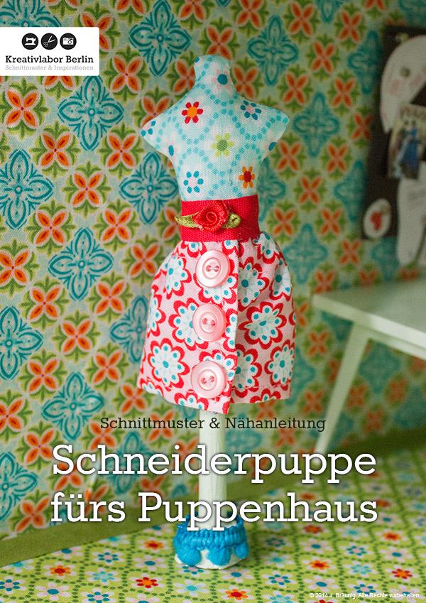 Nähanleitung Mini-Schneiderpuppe füs Puppenhaus