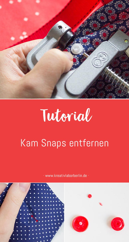 Mini-DIY: KamSnaps entfernen