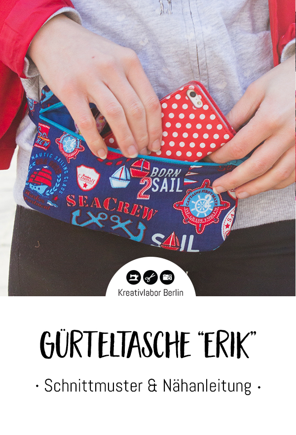 "Schnittmuster & Nähanleitung Gürteltasche ""Erik"""