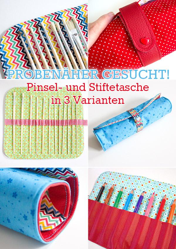 Probenähen Pinseltasche