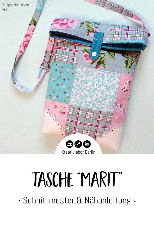 """Schnittmuster & Nähanleitung Tasche """"Marit"""""""