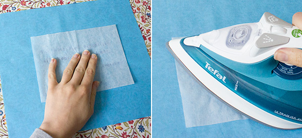 Textilfarbe fixieren