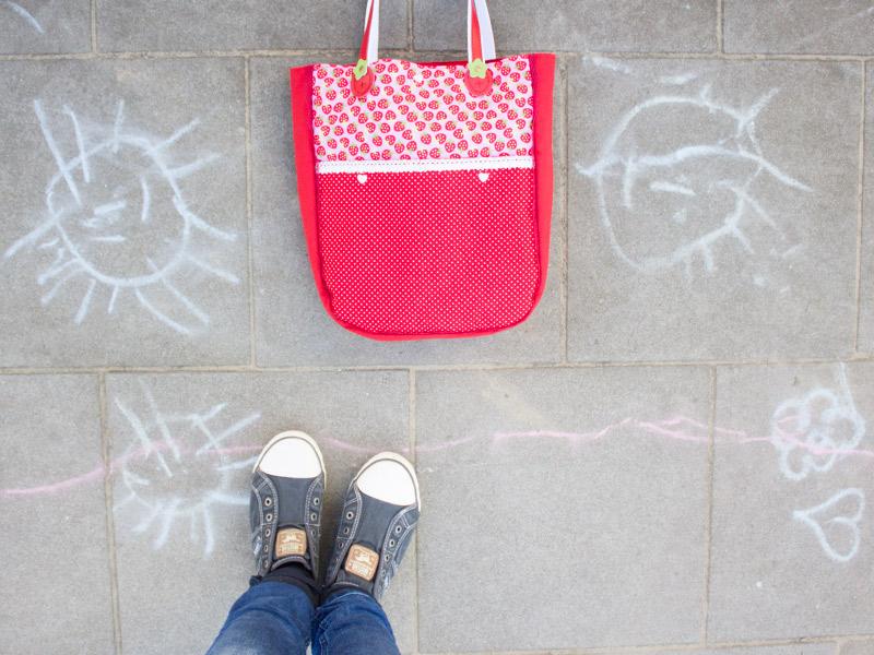 Kostenloses Schnittmuster für einen schicken Sommerbeutel & das neue Snaply-Magazin