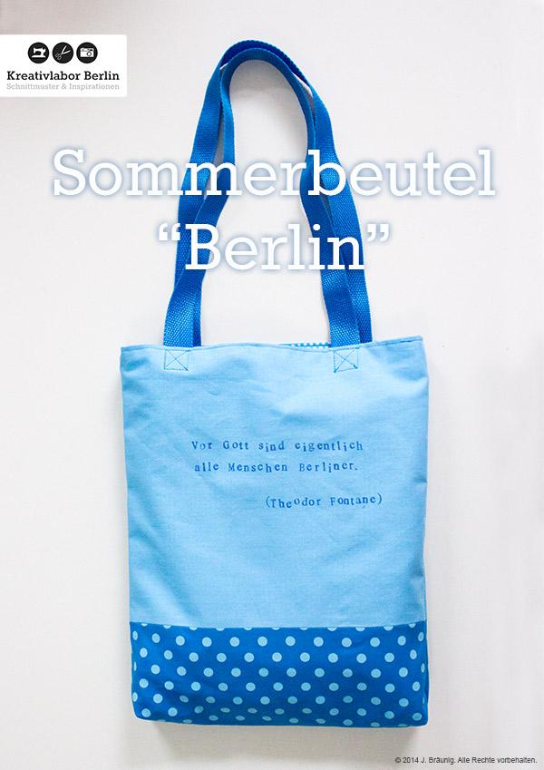 "Kostenloses Schnittmuster Sommerbeutel ""Berlin"""