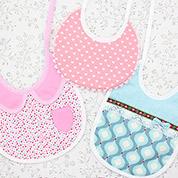 Baby-Lätzchen in 3 Varianten