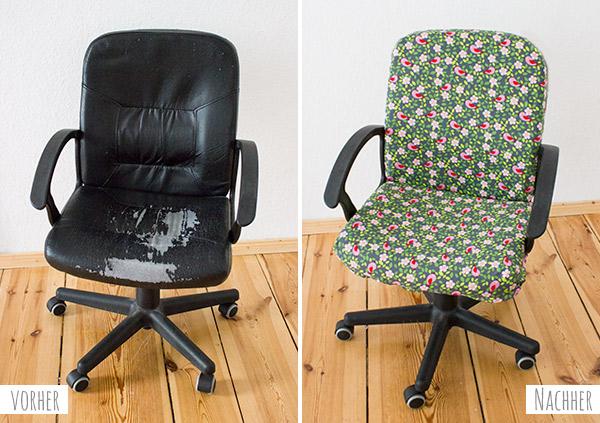 Stuhl mit Stoff beziehen