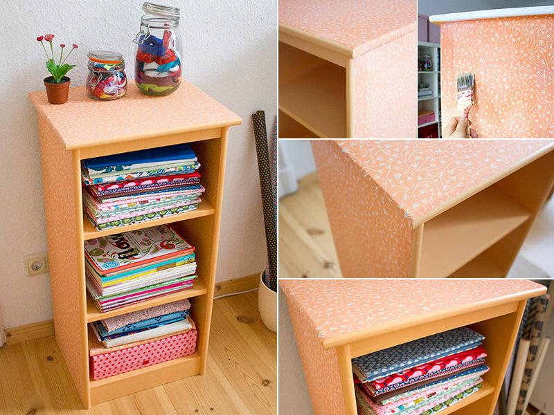 DIY-Anleitung: Einen Schrank mit Stoff beziehen