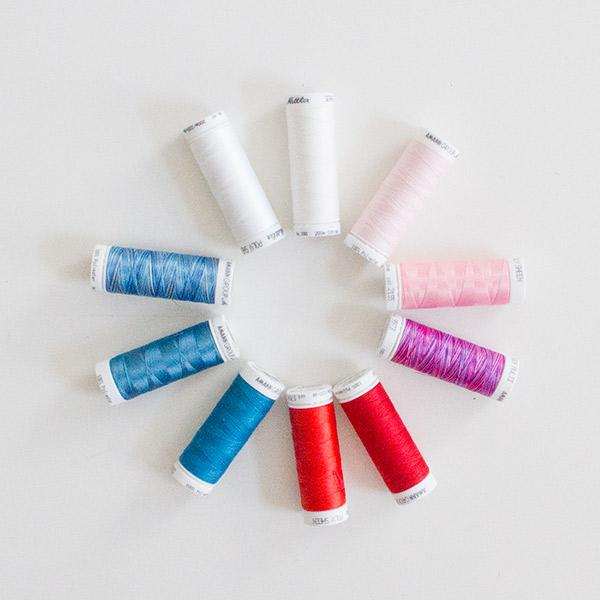 Nähgarne: Polyester und Baumwolle