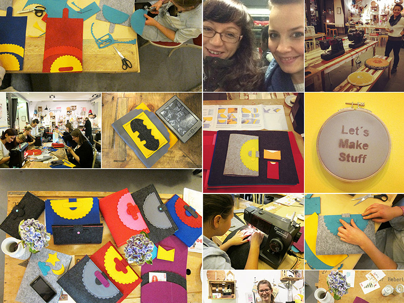 "Rückblick: Unser DaWanda-Workshop ""iPad-Tasche nähen"""