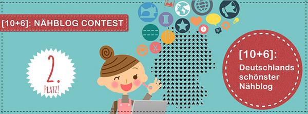 Nähblog-Contest: 2. Platz!