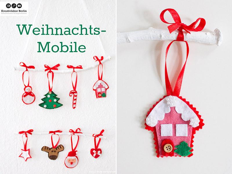 DIY-Anleitung: Weihnachtsmobile mit Filzfiguren