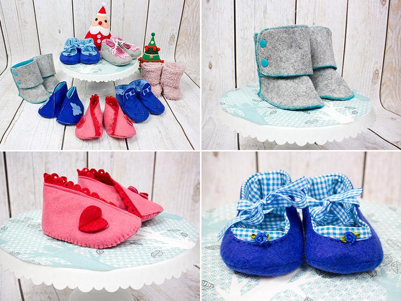 Das perfekte Weihnachtsgeschenk für werdende Eltern: Kuschlige Babyschuhe selbstgenäht