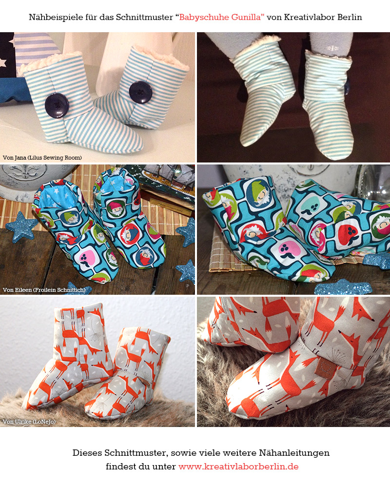 Gestaltungsbeispiele Babyschuhe Kinderschuhe