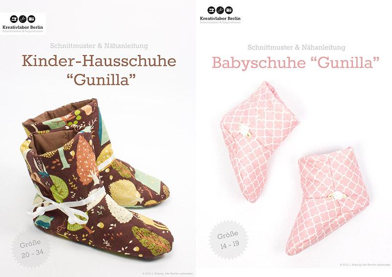 "Neue Schnittmuster-Ebooks: Babyschuhe & Kinder-Hausschuhe ""Gunilla"""