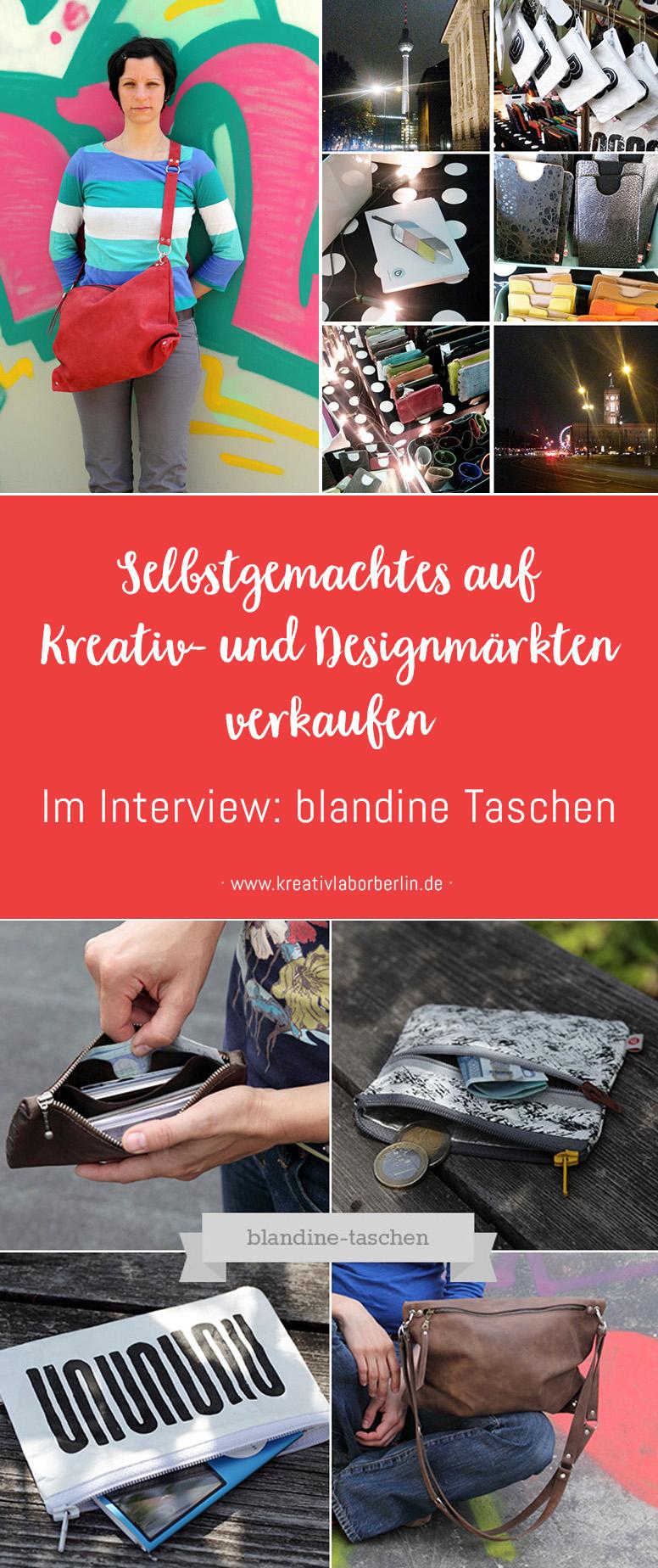 Selbstgemachtes auf Kreativ- und Designmärkten verkaufen: blandine Taschen