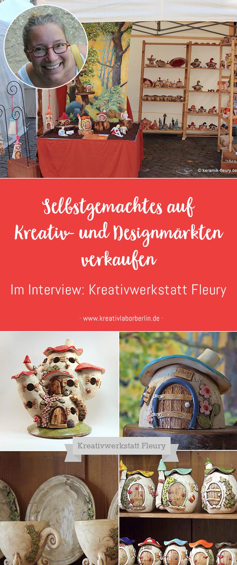 Selbstgemachtes auf Kreativ- und Designmärkten verkaufen: Kreativwerkstatt Fleury