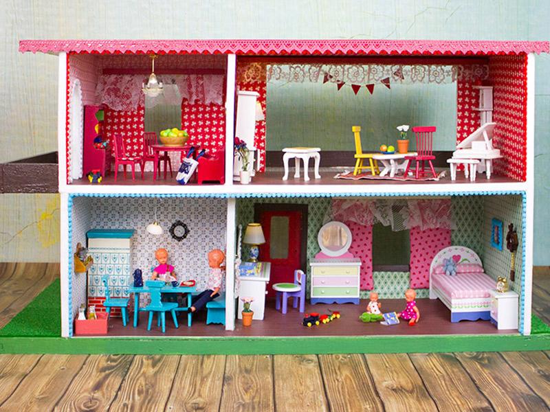 Ein Vintage-Puppenhaus renovieren: Haus Nr. 2 ist fertig!