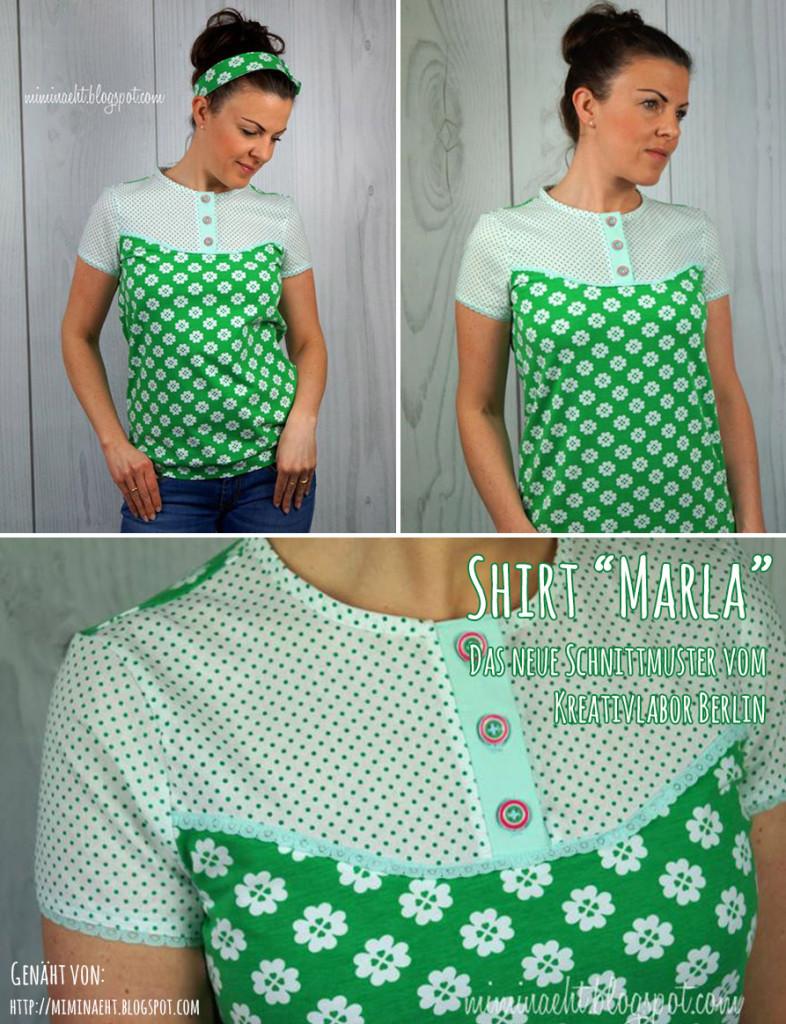 Nähbeispiel Shirt Marla