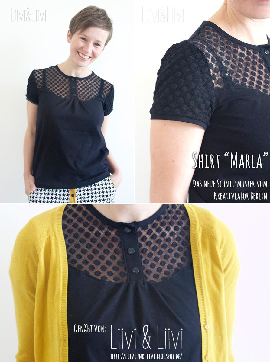 "Shirt ""Marla"" genäht von Liivi & Liivi"