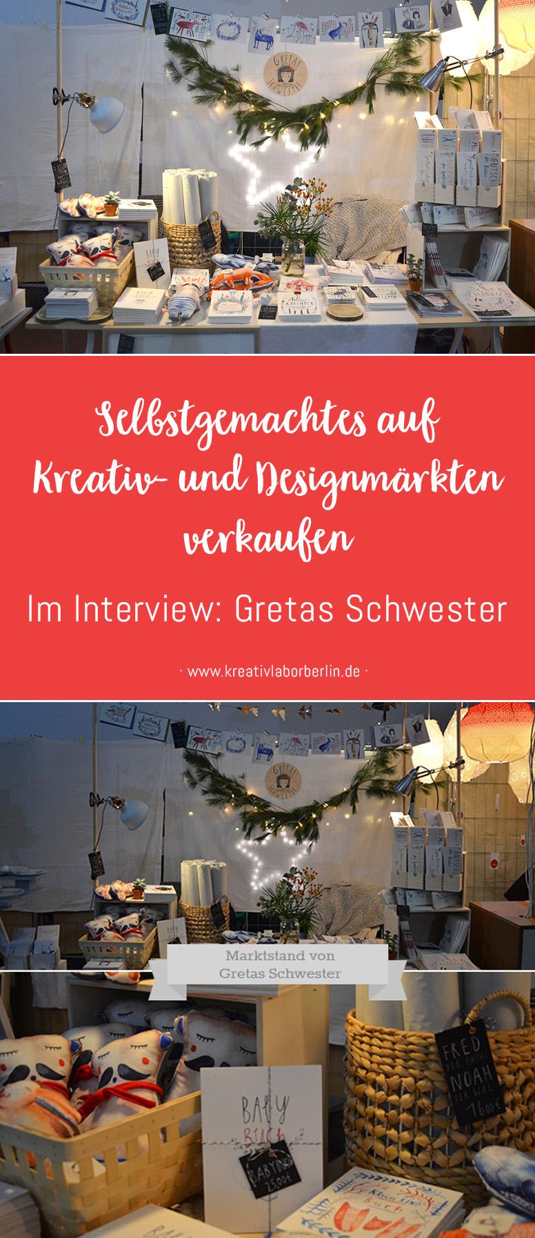 Selbstgemachtes auf Kreativ- und Designmärkten verkaufen: Gretas Schwester