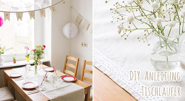 Tischläufer zur Hochzeit nähen