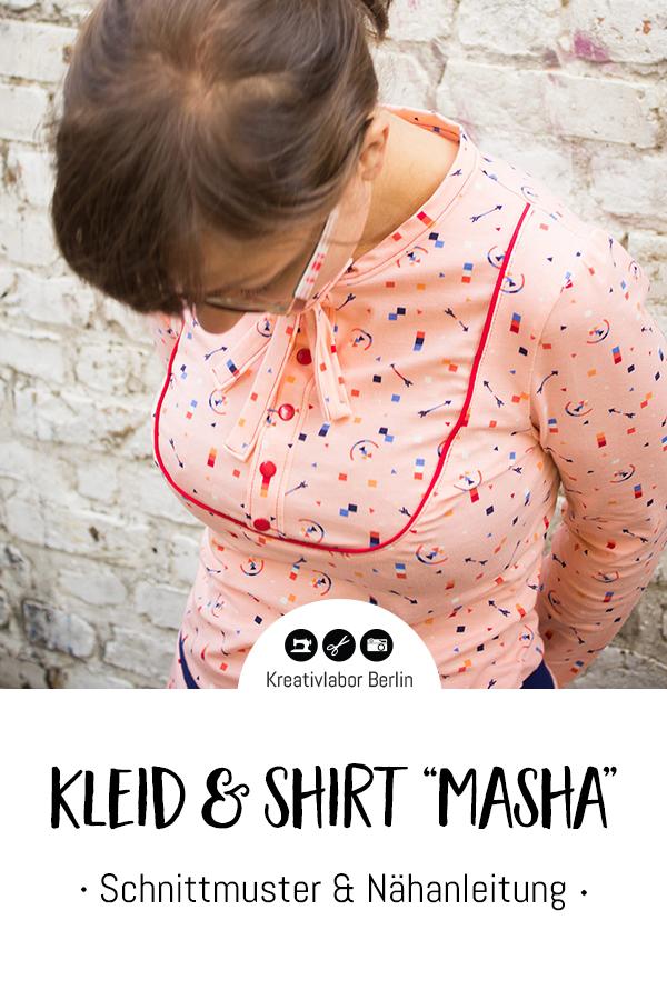 "Schnittmuster & Nähanleitung Kleid & Shirt ""Masha"""