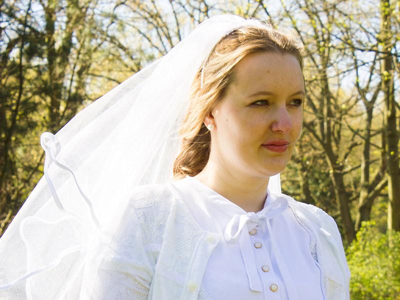 Schnittmuster zur Hochzeit: Einen Schleier selbst nähen